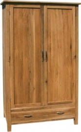 BROOKLYN OAK DOUBLE WARDROBE