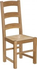 BROOKLYN OAK AMISH CHAIR - RUSH SEAT