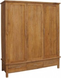 BROOKLYN OAK TRIPLE WARDROBE