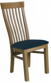 BROOKLYN OAK - LEON STYLE Dining chair with a leather seat
