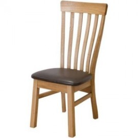 Modern Classic Lucia Dining Chair with Leather Seatpad