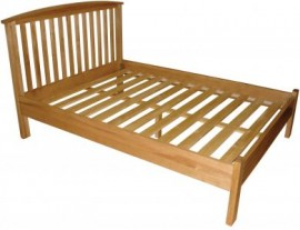 MODERN SHAKER DOUBLE OAK BED