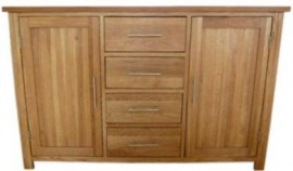 Modern Classic Large Oak Sideboard