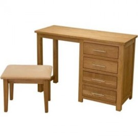 Modern Classic Oak Dressing Table & Stool