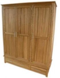 Modern Classic Triple Oak Wardrobe