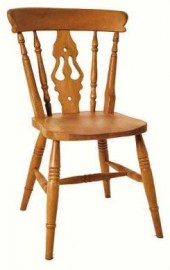 Baltimore High-back Fiddle Beech Dining Chair