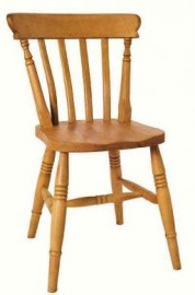 Low Slat Beech Dining Chair