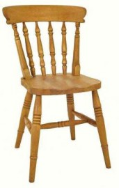 Low Spindle Beech Dining Chair