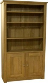 Torino 2 Door Oak Bookcase