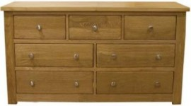 Torino 7 Drawer Wide Oak Chest