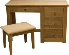 Torino Oak Dressing Table and Stool