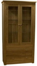 Torino Glass & Oak Display Cabinet