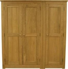 Torino Triple Oak Wardrobe