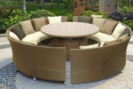 Toulouse 8 Seater Bench Set