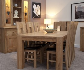 TREND LIFESTYLE OAK LARGE DINING TABLE