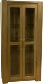 TREND LIFESTYLE OAK GLASS DISPLAY UNIT