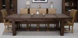 Walnut Grand 3.2M Extending Dining Table