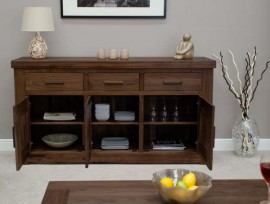 Walnut 3 Door Sideboard