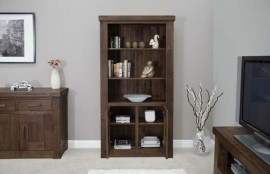 Walnut 2 Door Bookcase.