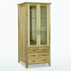 Windsor Bookcase glass doors with 6 drawers by Telnita