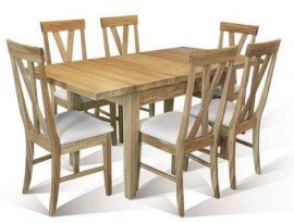 6 x Big Cross Chairs + 1 x Warwick table by Telnita