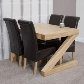 Z Oak Designer 4' X 3' Dining Table
