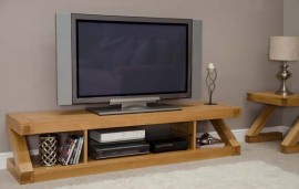 Z Oak Designer Large TV Plasma Unit