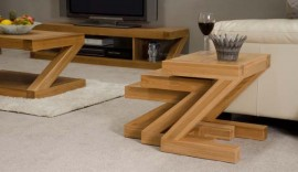 Z Oak Designer Nest of Tables