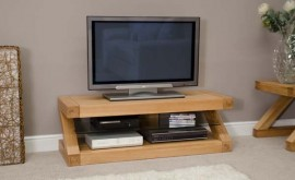 Z Oak Designer TV Plasma Unit