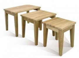 Windsor oak nest of tables by Telnita