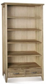 Windsor tall bookcase 2 drawer by Telnita